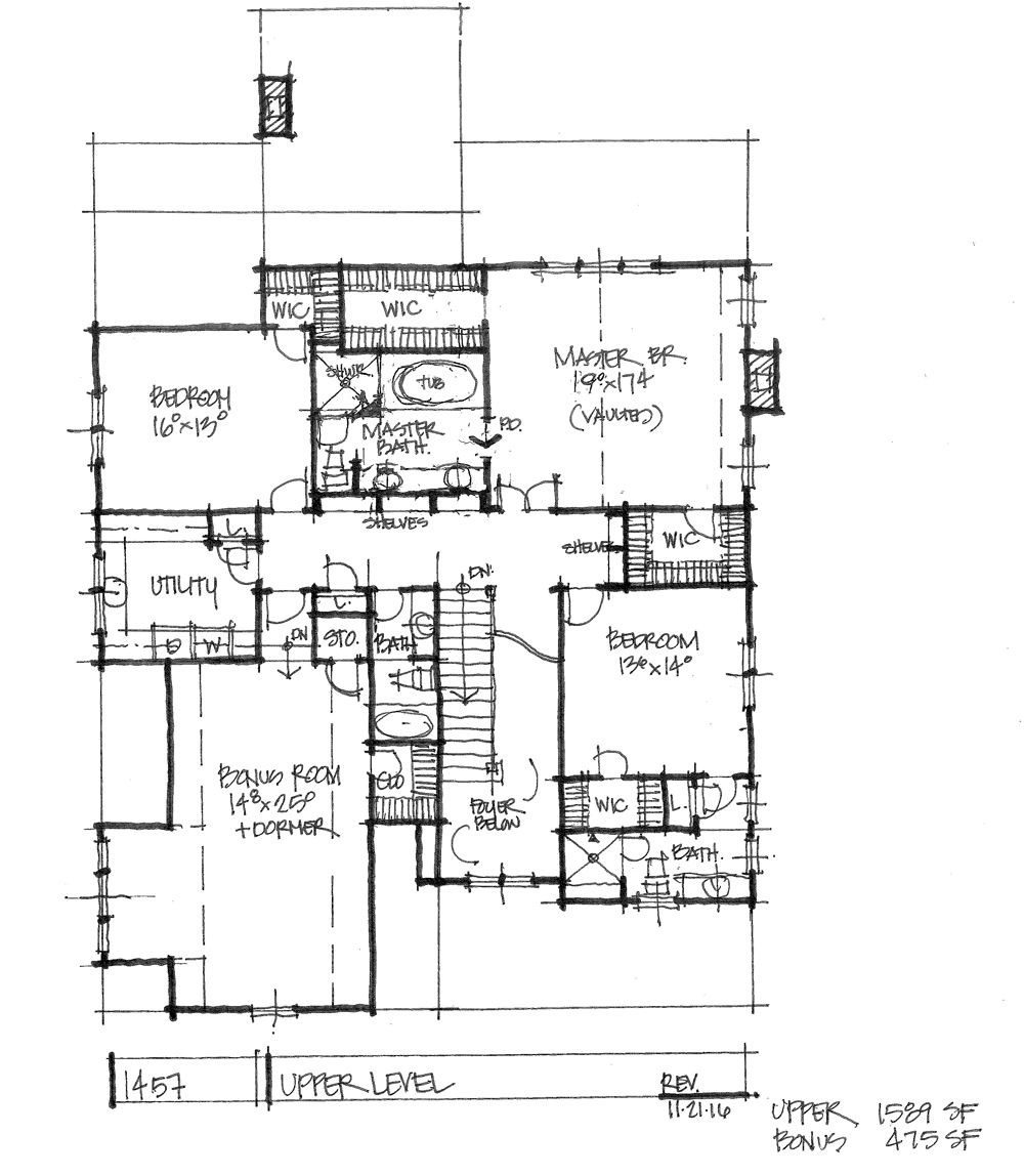 HOUSE PLAN 1457 – NOW IN PROGRESS | Urban farmhouse, Farmhouse house ...