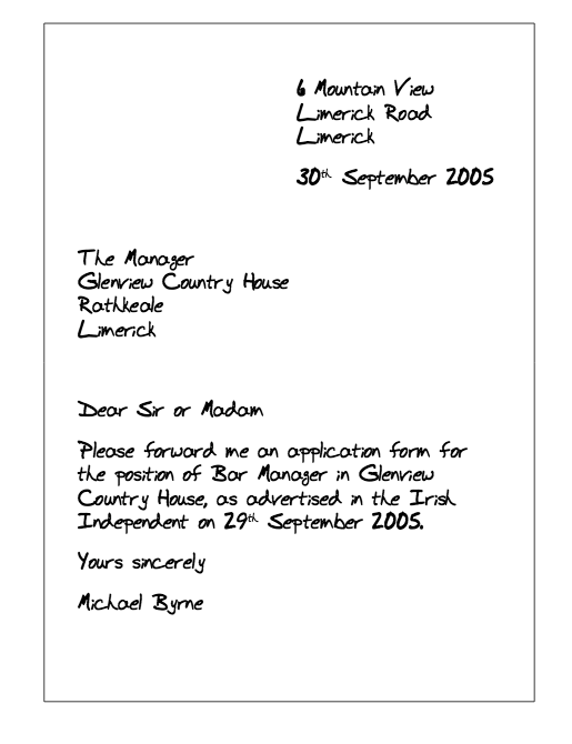 Example Of Letter Asking Application Form resumesdesign – Letter of Application