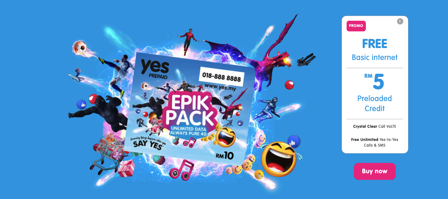 Join Yes 4g Prepaid Enjoy Pure 4g Always Pure Data Mobile Data 4g Lte