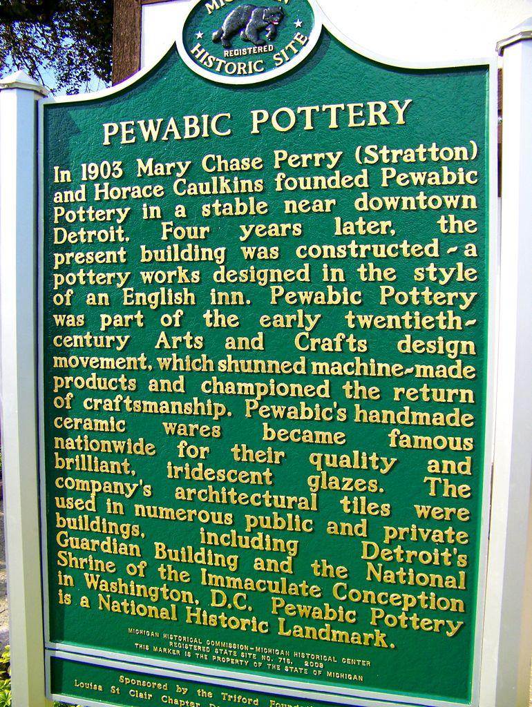 Pewabic Pottery Historic Marker Pewabic Pottery Detroit Detroit History