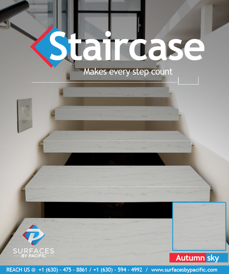residential place.#surfacesbypacific #granites #quartz #quartzite #staircase #staircasedesign #marble #marbledesign #naturalstones #naturalstonedesign #Chromeseries #interiordesign #homeimprovement #premiumquartzsurfaces #factorydirectprices