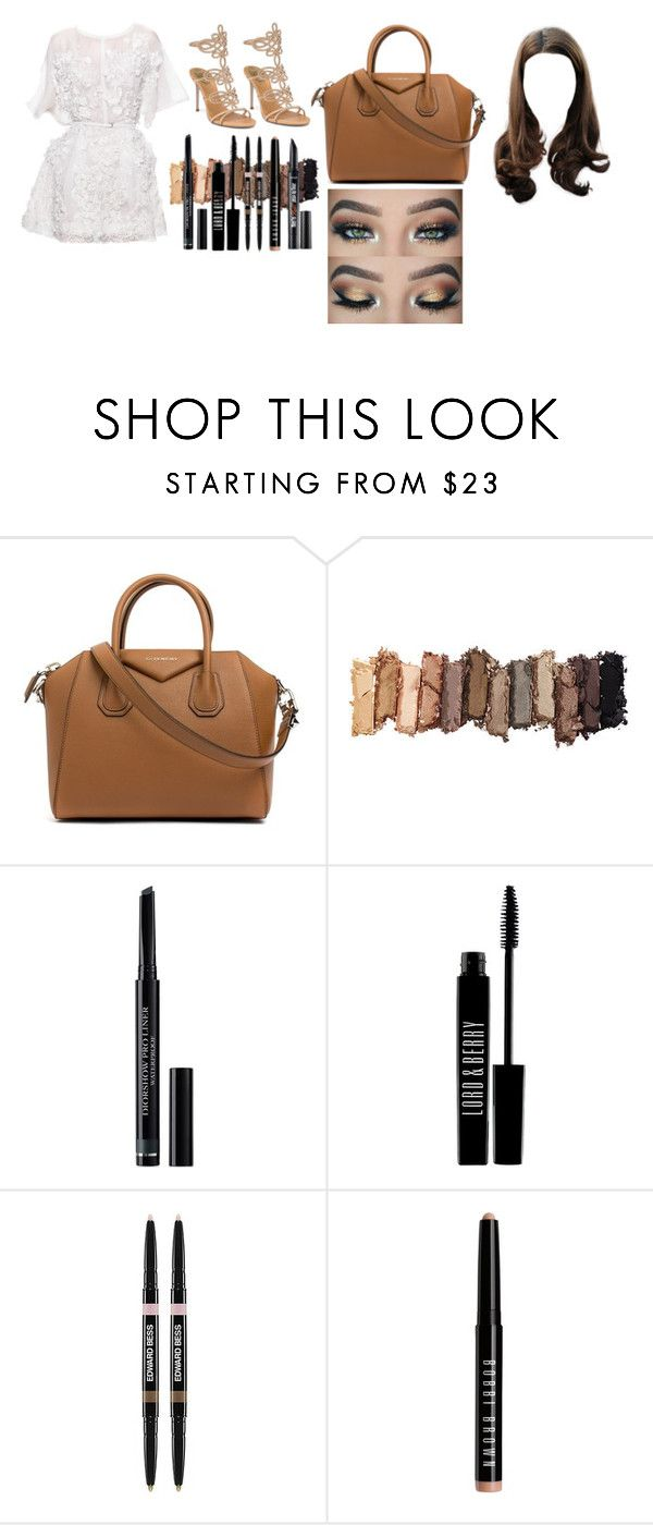 """""""Untitled #43"""" by gracesmedley87 ❤ liked on Polyvore featuring Elie Saab, Givenchy, Urban Decay, Christian Dior, Lord & Berry, Edward Bess, Bobbi Brown Cosmetics and Benefit"""