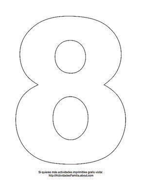 Dibujos De Números Para Colorear Número 8 Para Colorear Dibujos