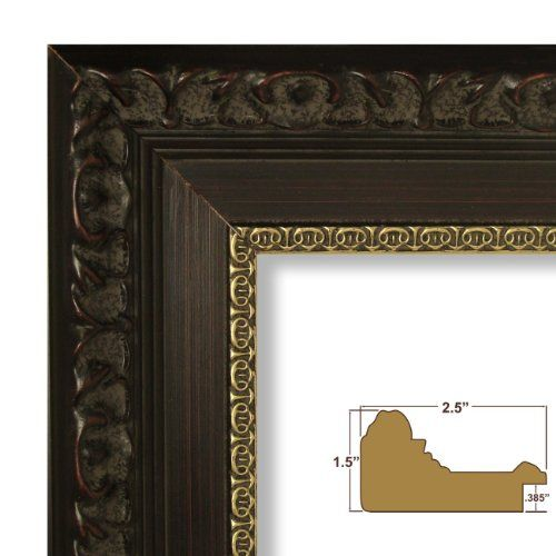 10x13 Picture Poster Frame Ornate Brushed Finish 2 5 Quot Wide Aged Mahogany With Gold 9530 31 99 Frame Poster Frame Craig Frames