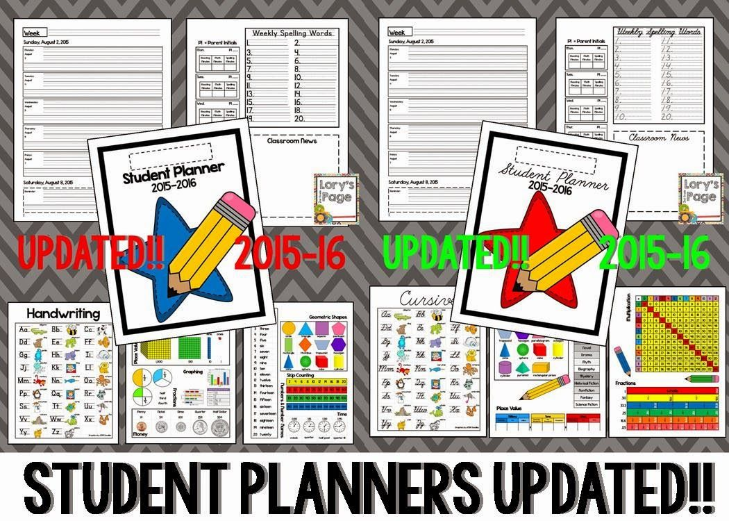 Organize your students from day 1 with this fabulous student planner.