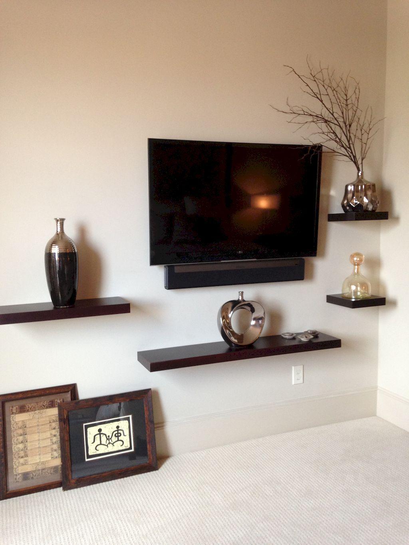 60 Incredible Bedroom Tv Wall Ideas Bedroom Tv Wall Living Room Tv Floating Shelves Living Room
