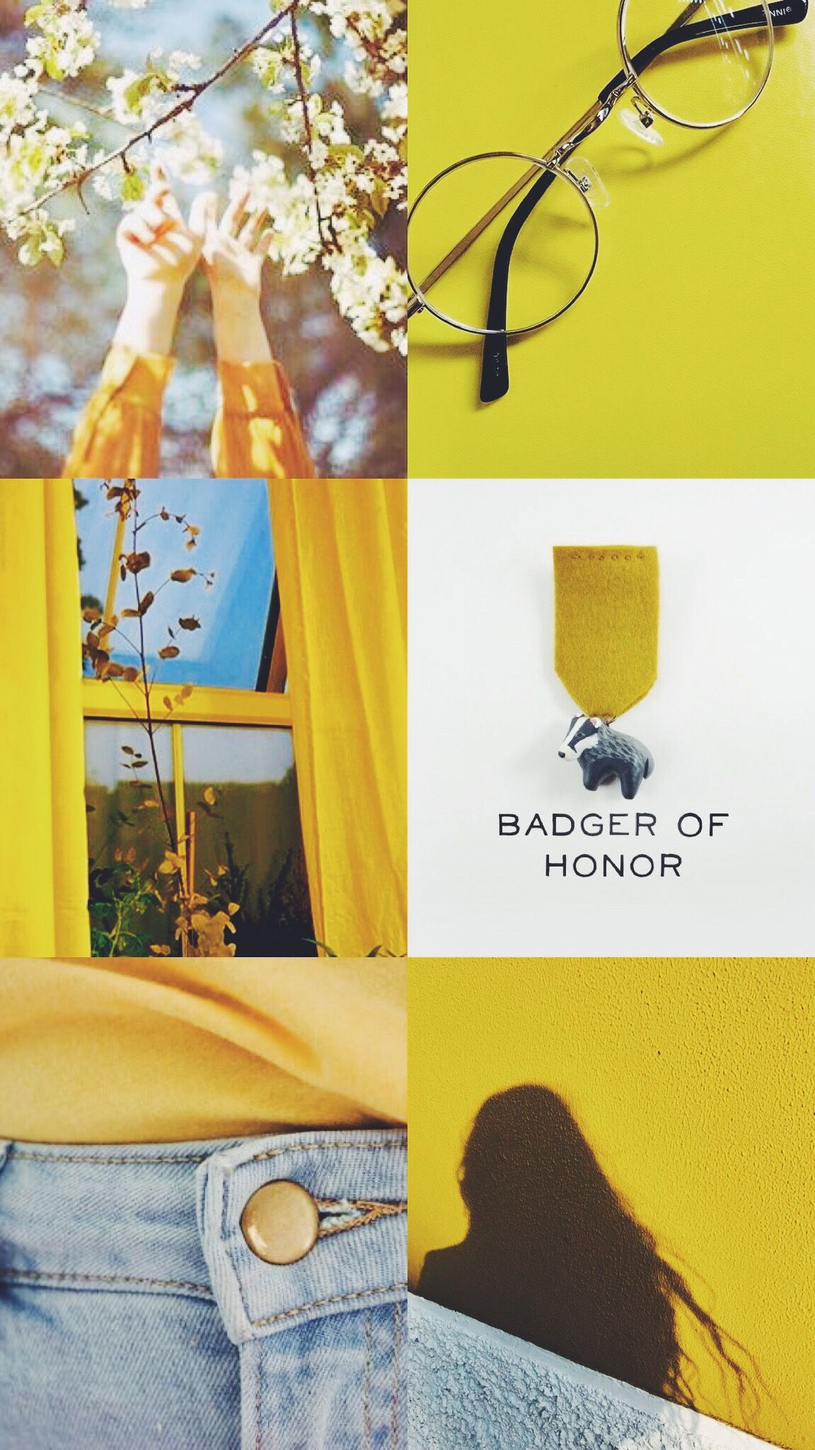 Hufflepuff Aesthetic Wallpaper Drop Earrings Aesthetic