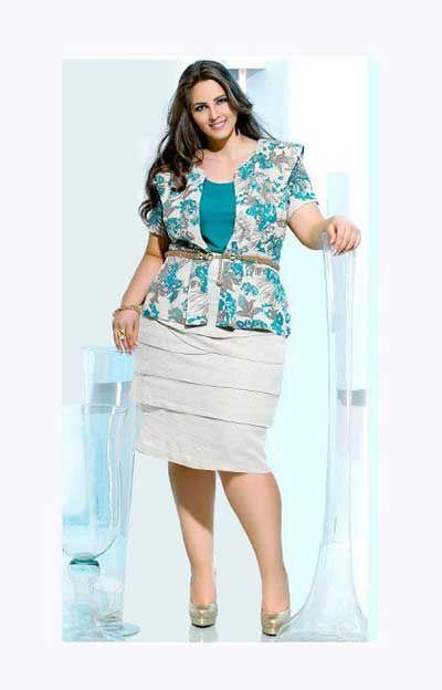 6b719fe795 Moda Evangélica Plus Size para Gordinhas  Fotos de Looks