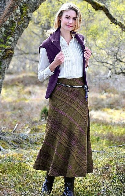 Ladies Tweed Bias Skirt