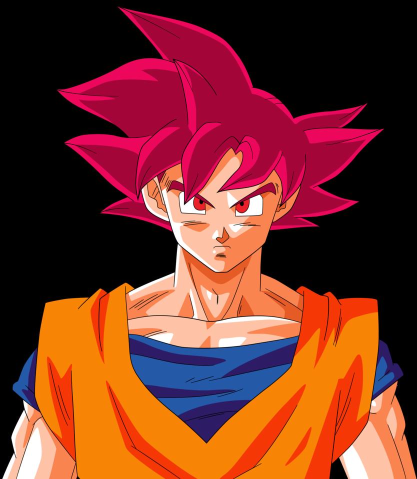 Goku and the real super saiyan god otakukart - Sangoku super saiyan god ...