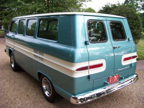 1961 Chevrolet Corvair Greenbrier Deluxe Van Chevrolet Corvair Chevy Corvair Chevrolet