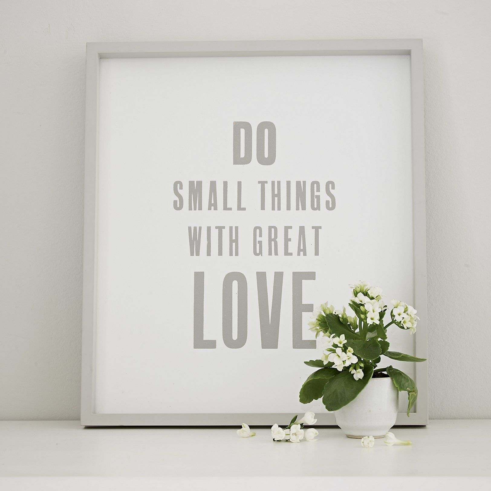 The White Company US. Do Small Things Framed Poster | We love this ...