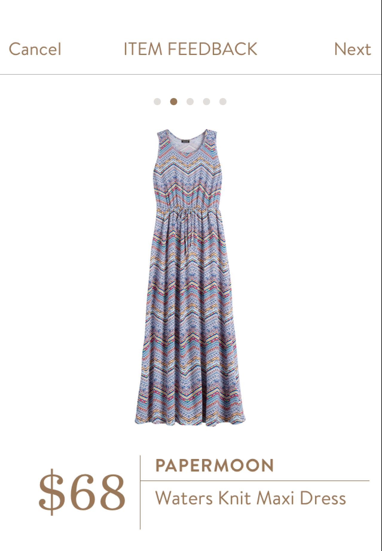 Papermoon Waters Knit Maxi Dress | FB Stitch Fix Group Board ...