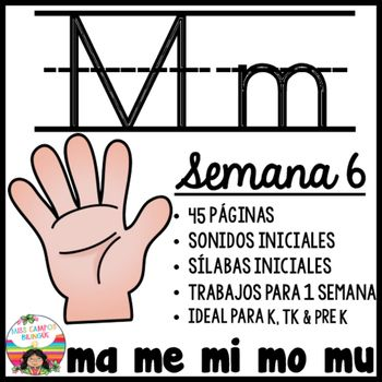 Letra M Silabas ma, me, mi, mo, mu