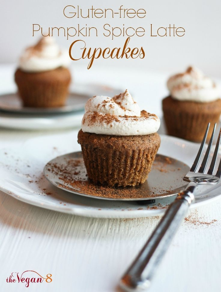 Gluten-free Pumpkin Spice Latte Cupcakes....and the Best Whipped Icing Ever! - The Vegan 8