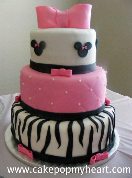 girls birthday cake minnie mouse birthday cake For my daughters