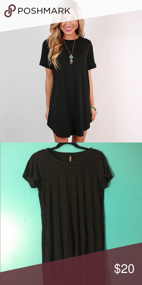 Black T-Shirt Dress Cotton On Flouncy super soft above the knees tshirt dress, NWOT ( price negotiable, make offers!!) #cottonon #dress #tshirtdress #black Free People Dresses