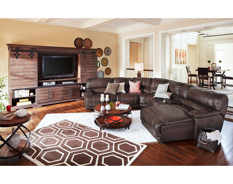 City furniture leather living room furniture sets