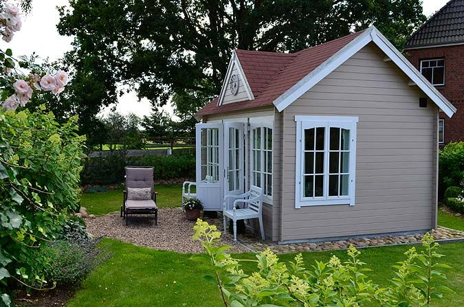 Das Clockhouse28 in der Praxis ein Gartenhaus zum