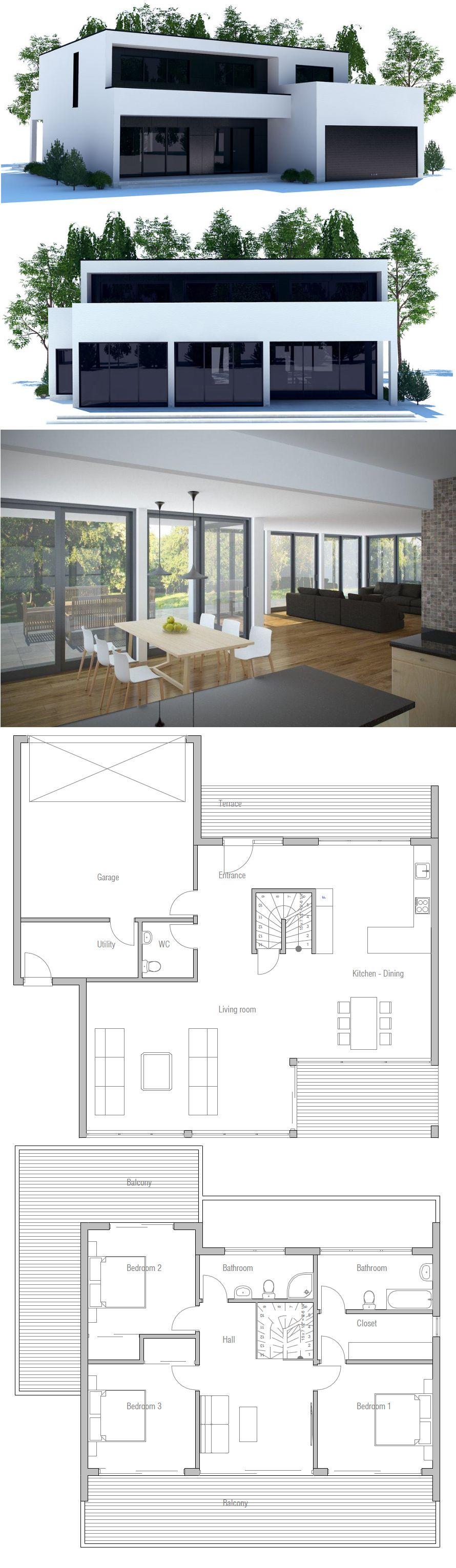 Modern Minimalist House Plan Home sweet home
