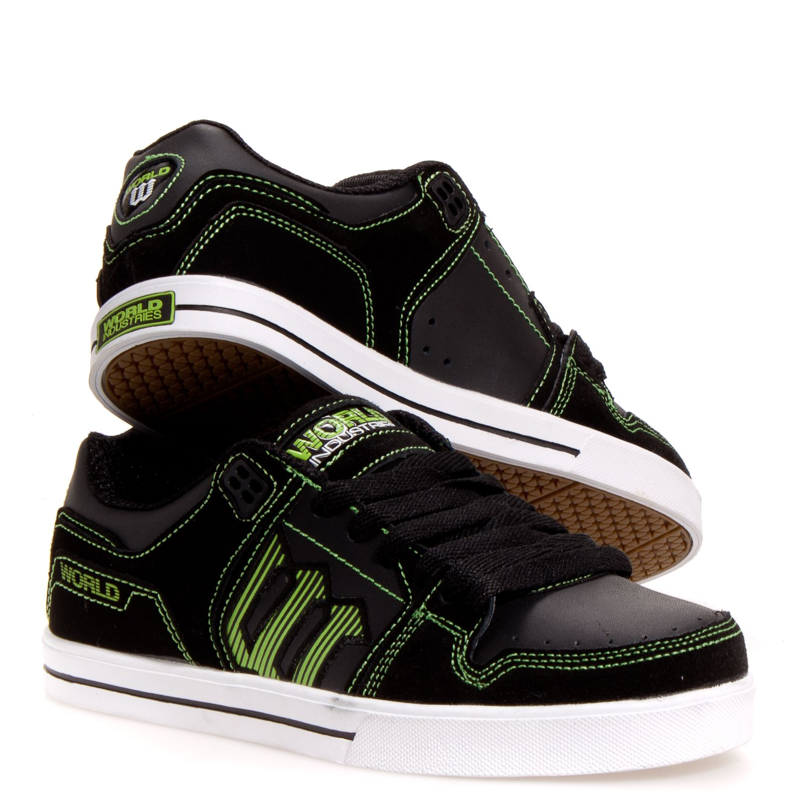 World Industries Monarch Men's Skate Shoes: Black 9.5 ...