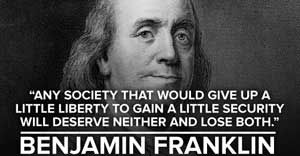 Ben Franklin Quote About Privacy And Security Ben Franklin