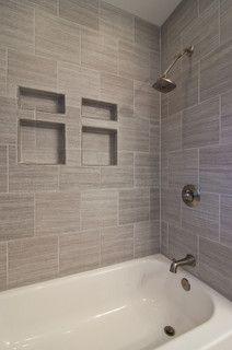 gray tile horizontal contemporary