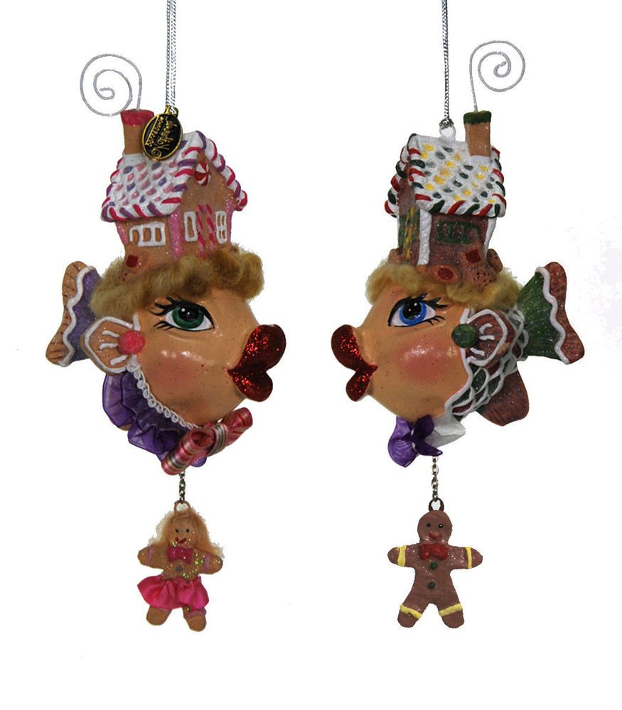 Kissing fish ornament - Katherine S Collection Kissing Fish Hansel Gretel Set Of 2 Kissing Fish