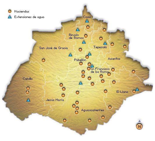Gobierno del Estado de Aguascalientes Map of Exhaciendas My
