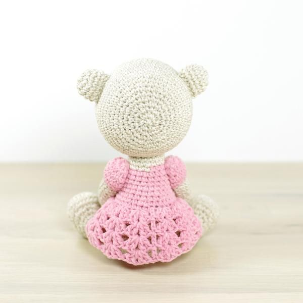 PATTERN: Teddy bear in a dress | Bonecas e Bichinhos | Pinterest