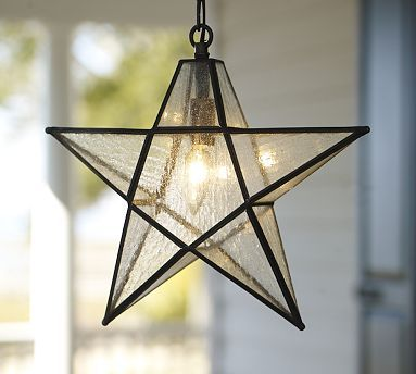 Glass star pendant for the outdoors star pendant star and pottery star pendant light for the entrance hall mozeypictures Images