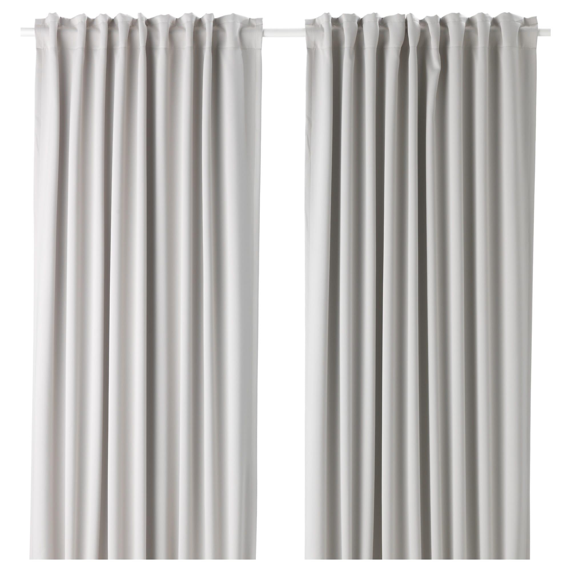 "Gray 1 Pair 57X98 /"" New Flöng Curtains"