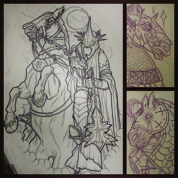 Tattoo Inspiration Maybe The Headless Horseman Horse Tattoo Knight Tattoo Art Tattoo