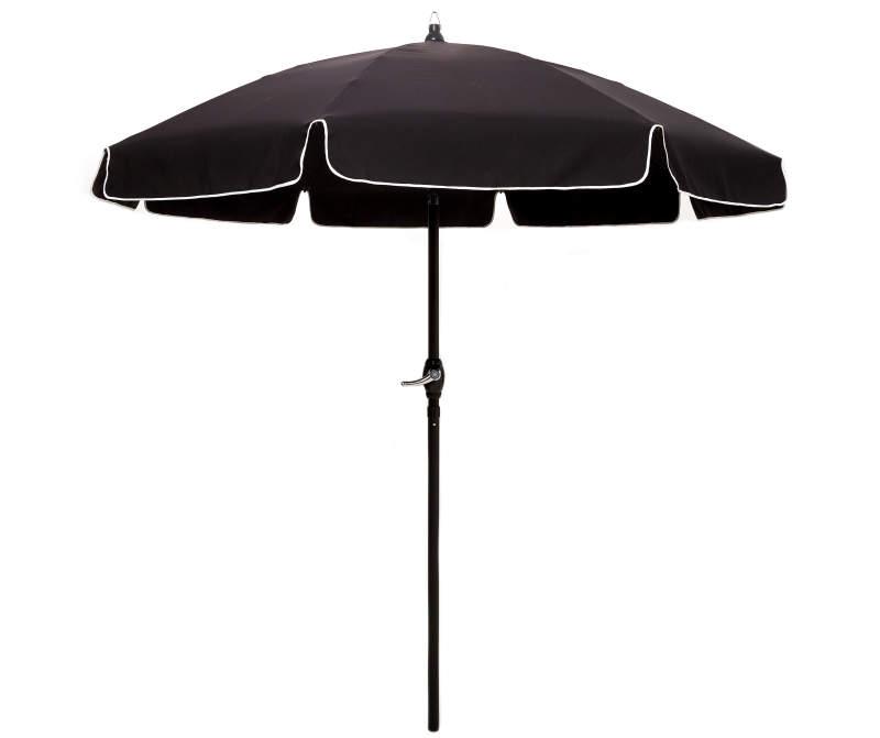 Wilson Fisher Black White Trim Cafe Patio Umbrella 7 5 Big Lots