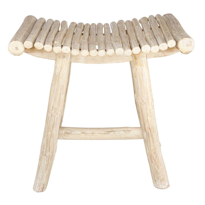 Maison Du Monde Sgabelli.Sgabello In Teak Imbiancato Bedroom Teak Furniture