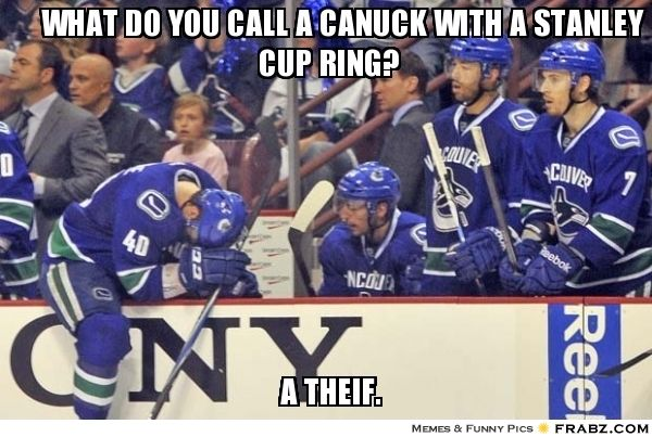 canuck meme hockey memes nhl players hockey fans