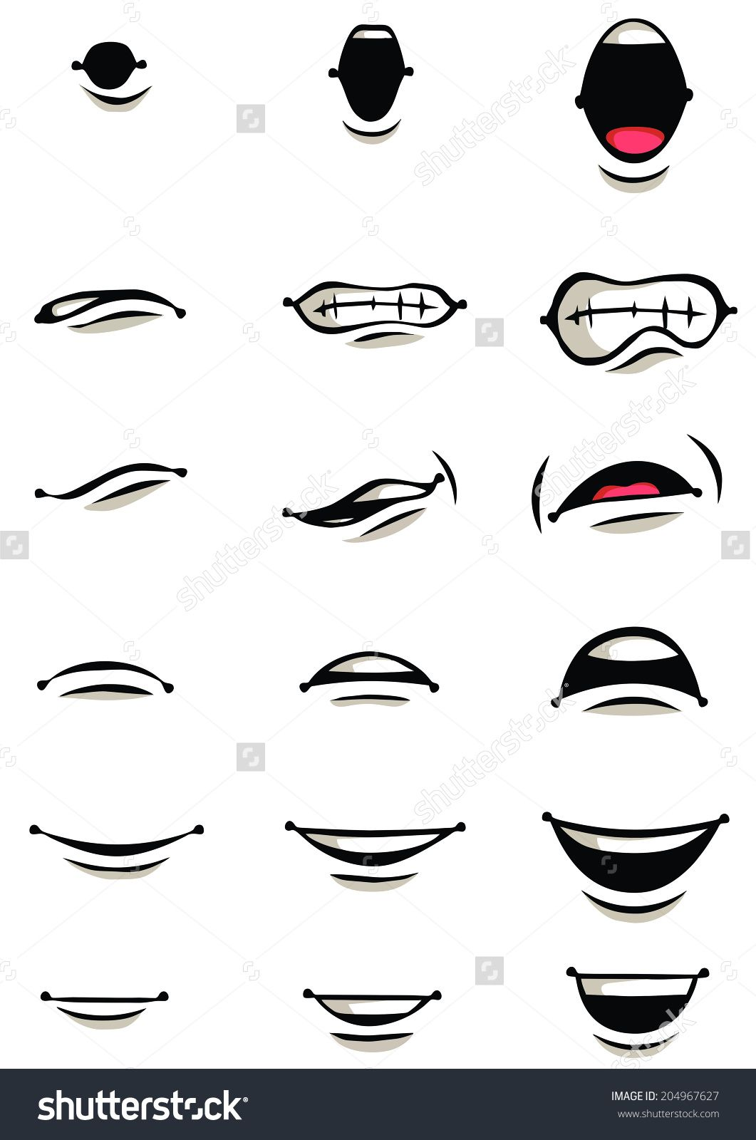 Cartoon Mouth Collection In