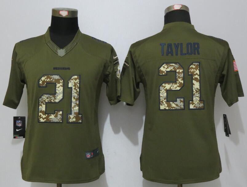 Women New Nike Washington Redskins 21 Taylor Green Salute To Service  Limited Jersey 03e8543c8