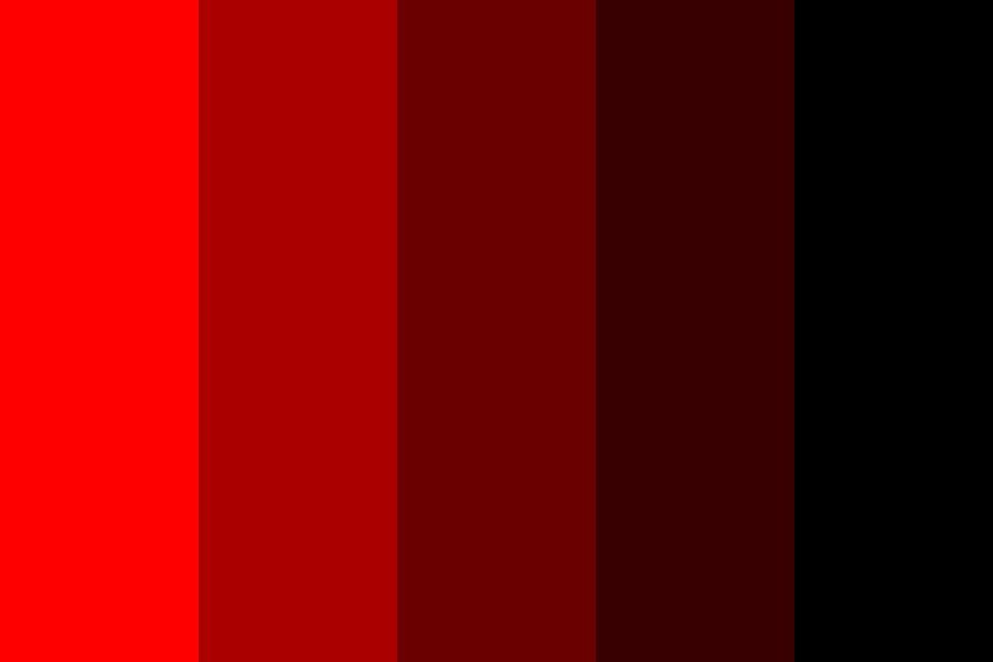 Reverse Monochromatic Red Color Palette In 2020 Red Colour Palette Dark Color Palette Black Color Palette
