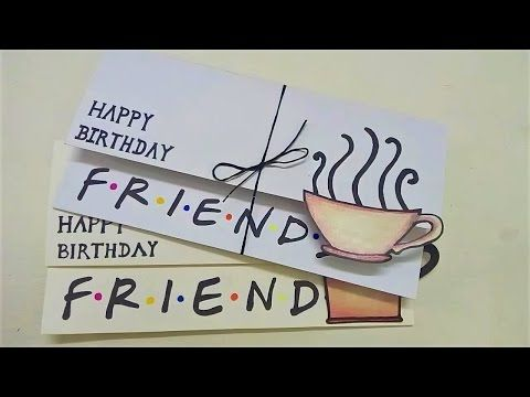 Simple Birthday Card For Friends Friends Diy Youtube Birthday Cards For Friends Happy Birthday Cards Diy Cards For Friends