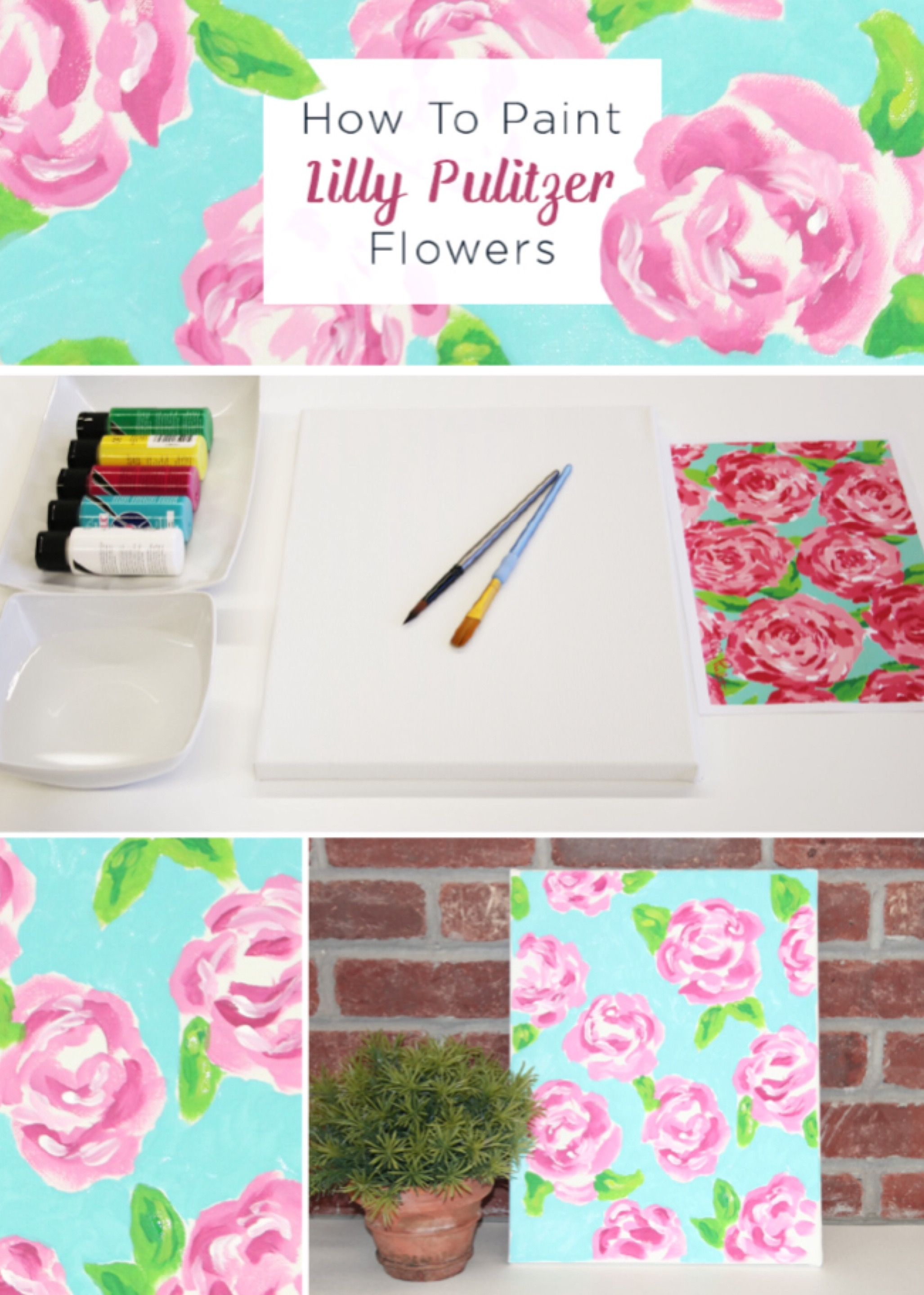 How To Paint Lilly Pulitzer Flowers   Pinterest   Pinturas, Ropa y Arte