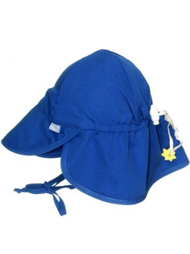 ebdcacd1a17 Iplay Baby Infant Toddler Unisex Solid Color Flap Sun Hat   Beach Hat by  Iplay - Royal - 0-6 Mths -  baby