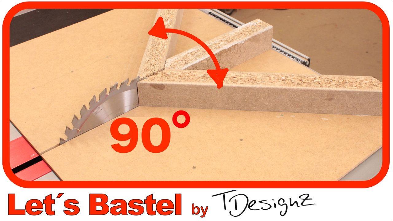 Gehrungsanschlag Kreissage Selber Bauen Perfekte Gehrungen An Der Kre Selber Bauen Diy Bilderrahmen Tischkreissage