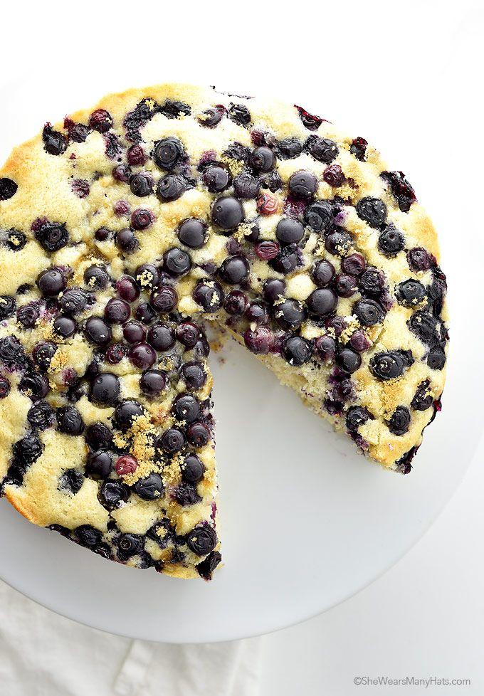 Easy Lemon Blueberry Buttermilk Cake Shewearsmanyhats Com Blueberry Breakfast Cake Blueberry Breakfast Breakfast Cake