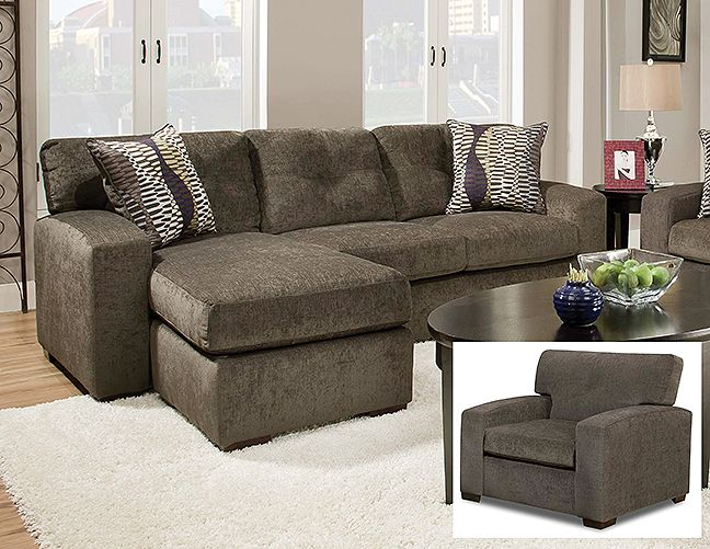5100 Hematite Grey I Have Owned This For Going On Three Years It Is Very Comfortable And Sectional Sofa With Chaise Sectional Sofa Couch Small Sectional Sofa #unclaimed #freight #living #room #sets