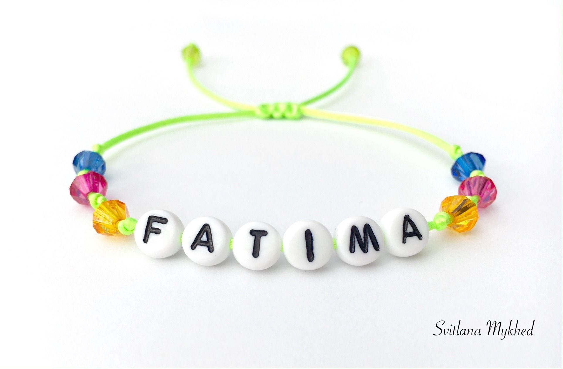 Epingle Sur Bracelet Avec Prenom Nom Message Initiales