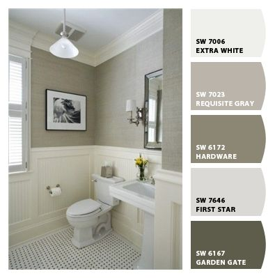 This Is A Great Updated Bathroom That Would Make It Easy For Buyer To Fall In Love Find These Colors At Sherwin Williams SW 7023 Requisite Grey