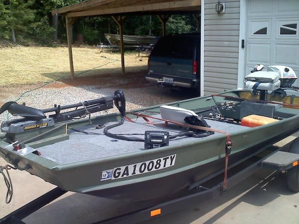 10 decked out jon boats you 39 ll want for yourself boating for Fish finder for jon boat
