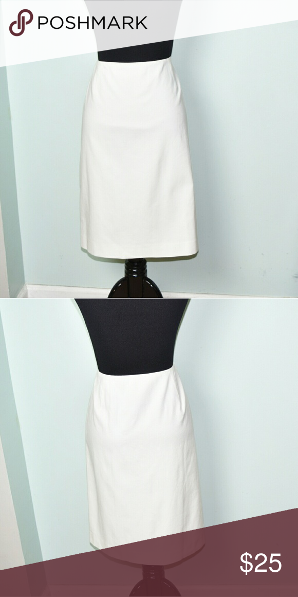 Ralph Lauren Ivory Stretch Skirt In excellent condition! Very comfortable, lightweight, and soft! Buy 3 items and get 1 free plus 15% off your purchase total! Ralph Lauren Skirts Midi