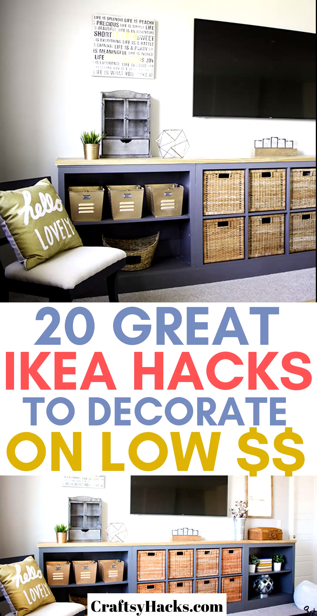 If you're on a low budget, these ikea hacks are just the very best to transform the way your home looks. Decorate on a low budget and have fun using ikea furniture to do that. #decorate #ikeahacks #ikea